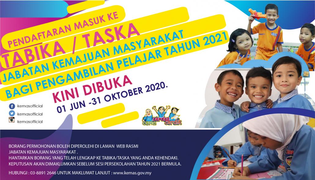 Borang Tadika Kemas 2020